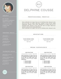 This CV design is very professionally designed. It also looks almost similar to that of a webpage, with a side bar and content column. The colour scheme of this CV is simple yet effective as the content is still easily viewed and read.