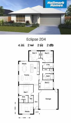 House Plans Mansion, Sims House Plans, 4 Bedroom House Plans, House Layout Plans, Family House Plans, Best House Plans, Dream House Plans, Modern House Plans, Small House Plans