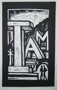 Nigel Brown, I Am Together 4/30 (2000). Linocut, 755 x 388 mm POA e-size, from, colour, pattern, shape, texture p- value, balance, repitition, symmetry, variety