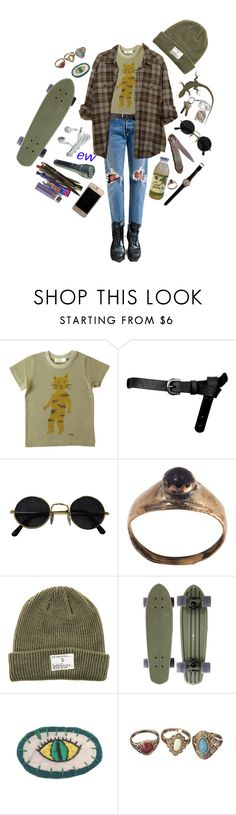 """Indians on ice cream cones"" by lordeisqueenbee ❤ liked on Polyvore featuring Dr. Martens, Humör, ASOS and Dark Seas"
