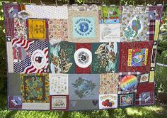Quilt made entirely from recycled materials (except for thread!)
