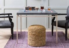 Seagrass Wrapped Stool - Mecox Gardens