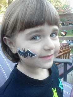 Bat Cheek Art Tiny Expressions Face Painting And Design