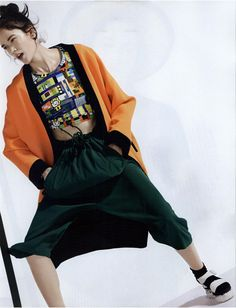 #MMissoni | SILK PANTS | #Spring2015 #Collection | Elle, Italy