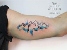 Tatuajes tattoo ideas mountain tattoo, watercolor tattoo и t Tatoo Biceps, Bicep Tattoo, Tattoo Fonts, Tattoo You, Ankle Tattoo, Tattoo Quotes, Trendy Tattoos, Small Tattoos, Cool Tattoos
