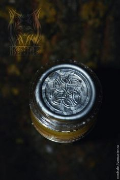 Herbal perfume with celtic knots. Dedicated to Freyr, the god of prosperity.