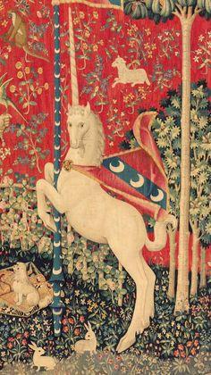 Medieval Tapestry, Medieval Art, Renaissance Art, Unicorn Illustration, Art Et Illustration, Illustrations, Unicorn Tapestries, The Last Unicorn, Unicorn Art