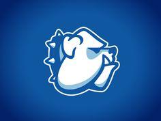 Final Bulldog Mascot by Alex Flannery Pug Diy, Bulldog Mascot, Logo Desing, Gym Logo, Minimalist Drawing, Mascot Design, Badge Logo, Dog Barking, Cool Logo