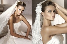 Pronovias Lace Veil & makeup!