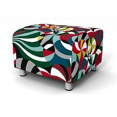 Klippan Footstool cover - Footstool Covers | Bemz  sc 1 st  Pinterest & Klippan 2 seater sofa cover in Littlephant Waves Gray/Gray. Nils ... islam-shia.org
