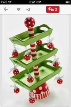 Easy DIY Christmas Crafts for Kids - 3 Tier Christmas Candy Tray - Click pic for 45 Budget Friendly Holiday Decor Ideas DIY treats tower - so cute and festive! Grinch Christmas, Christmas Candy, All Things Christmas, Winter Christmas, Christmas Time, Christmas Decorations, Christmas Goodies, Holiday Decorating, Decorating Ideas