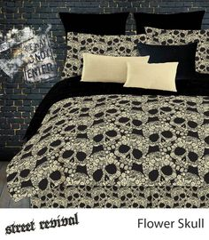 FLOWER SKULLS SHEET SET IN DIFFERENT SIZES