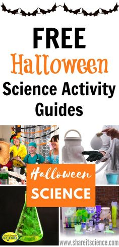Use these free printable Halloween Science Experiment Guides to teach some exciting science lessons in the classroom, or for kids who love hands-on projects at home. Halloween is a great time for science and STEM learning and fun! Preschool Science Activities, Stem Science, Science Classroom, Montessori Science, Science Party, Steam Activities, Mad Science, Science Resources, Halloween Science