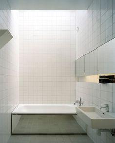 bath. Nice effect w the mirror