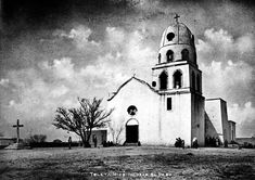 Traces of Texas reader Stan Watty was doing some research on the internet when he came across this circa 1905 photo of the Mission Corpus Christi de la Ysleta del Sur (Ysleta Mission) near El Paso, Texas. The mission was constructed in 1744 in part to serve the Tigua Indian community which had fled New Mexico during the Pueblo Revolt.
