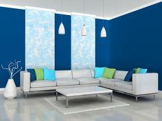 living azul y blanco