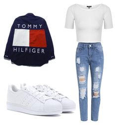 """""""Untitled #188"""" by lakesheia ❤ liked on Polyvore featuring Topshop and adidas"""
