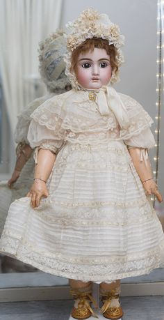 "25"" (64 cm) Antique French Bisque Bebe Doll by Jullien, c.1895 from respectfulbear on Ruby Lane"