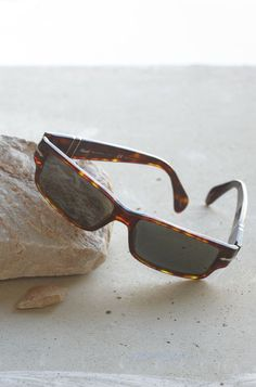 Persol Sunglasses. I like the frame design. No tortoiseshell