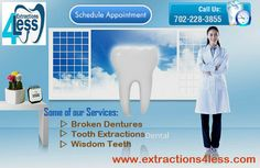 Wisdom teeth removal is safe and gentle when performed by one of our experienced Practitioners in Las Vegas. Wisdom tooth Extraction has been experiment at Extractions4less and providing the best solutions. For appointments, call: 702-228-3855. Visit: http://www.extractions4less.com