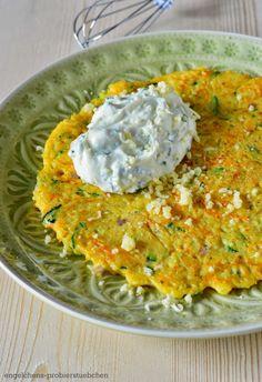 Gemüse-Hirse-Pfannkuchen