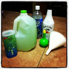 Must try!~Crystal light mojito. Mix in a gallon water jug and you have the perfect beach drink! I used 2 crystal light packets, 1/4 water, 1/4 soda water, 1/2 coconut rum and a little lime juice. Delicious!