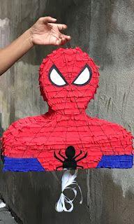 Birthday Pinata, Birthday Diy, Party Themes For Boys, Birthday Party Decorations, Happy Birthday Spiderman, Paper Mache Diy, How To Make Pinata, Cute Stitch, Superhero Party