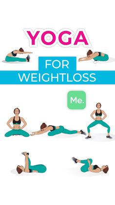 Weight loss and yoga might not look like they go side by side. The reason is that lots of people view yoga as stress release or tone muscle. Fitness Workouts, Yoga Fitness, Life Fitness, At Home Workouts, Fitness Motivation, Ab Workouts, Yoga Bewegungen, Sleep Yoga, Yoga Meditation