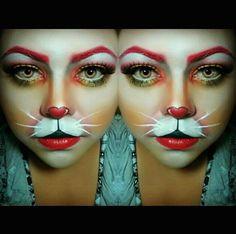 White Rabbit Halloween makeup IG: lucy_munguia
