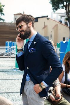 Another great shot from Pitti Uomo. Click to shop accessories for him.