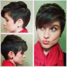 Pixie cuts, pixies, pixie haircuts. I don't think I could ever do this but I think it's adorable ...