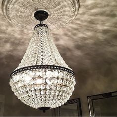 Our Mia Faceted Crystal Chandelier is a stunner