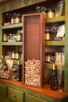 Elegant Wood Wine Cork Holder