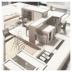 """""""{ boxes } // living spaces // awesome model by @sotis_cha ▲ #iArchitectures…"""