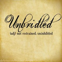 deliciousdefinitions:  Unbridled