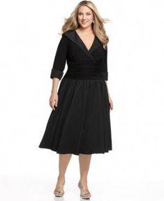 f51be1a62f6 Jessica Howard Plus Size Portrait Collar A-Line Dress Jessica Howard Plus  Size Portrait Collar A-Line Dress Women Women s Clothing - Dresses