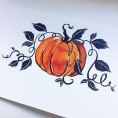 Halloween Tattoo, Halloween Drawings, Halloween Art, Halloween Pumpkins, Art Sketches, Art Drawings, Pencil Drawings, Art Plastic, Pumpkin Drawing