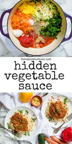 This hidden vegetable sauce is a great way to get more veggies into your family Healthy easy and done in about 30 minutes healthyfamilymealprep healthydinnerideas veggieloaded Easy Dinner Recipes, Baby Food Recipes, Cooking Recipes, Jelly Recipes, Pasta Recipes, Healthy Family Dinners, Kids Meals, Toddler Meals, Toddler Recipes