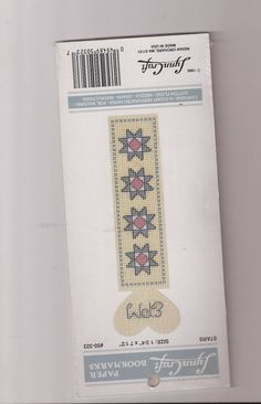 Lynn Craft Paper Bookmarks NIP Sealed Cross Stitch Kit 50-323 Perforated Paper #LynnCraft #Bookmark