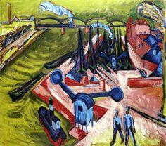 Ernst Ludwig Kirchner - Francfort, le port de l'Ouest