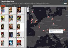 The Geography of Horror Movies #horrorfilms #Halloween