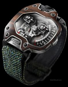 Gentlemen: #Gentlemen's #jewelry ~ Urwerk Model UR-110 Wristwatch « EastWood » - Black Macassar.