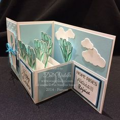 Hidy Ho Stampers, Today's Easter Z Fold Box Card is so simple. I've done these before and you've loved them. This is the Easter version using two stamps sets — A…