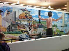 Milton Keynes Library mural Image Chart, Genius Loci, Milton Keynes, Sense Of Place, Local History, Town And Country, Public Art, Childhood Memories, Art For Kids