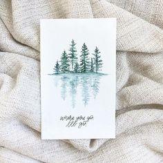 Keeping it super simple. . . . . #bedeeplyrooted #watercolorart #botanicalart #christiancreative #goodnewsfeed #pinetrees #brushlettering #watercolorpainting