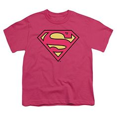 This officially licensed Superman - Superman Classic Logo Youth T-Shirt is available in hot pink and is made of pre-shrunk cotton. Display your Superman pride and grab this youth t-shirt for that special little geek today. Dc Comics Girls, Batman Wonder Woman, Superman Comic, Boys Shirts, Supergirl, Hot Pink, Youth, Unisex, Classic