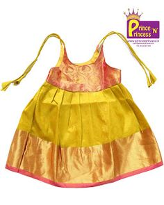 New born Silk frock for naming and cradle ceremony . Made of Pure Silk . Beautiful zari . Easy to wear . To buy www.princenprincess.in #frock #new #born #just