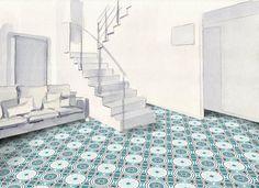 Modern and traditional encaustic cement tiles factory Mosaic Del Sur, Tile Showroom, Tile Manufacturers, Tiles Online, Motif Floral, Tile Patterns, Mosaic Tiles, Animal Print Rug, Tile Floor