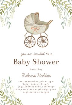 Customize, add text and photos. Print for free! Printable Baby Shower Invitations, Baby Invitations, Baby Shower Printables, Baby Shower Templates, Baby Shower Greetings, Baby Shower Cards, Shower Baby, Baby Shower Invitaciones, New Baby Cards