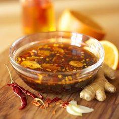 Chili-Orange Marinade for beef, lamb, pork or chicken.  Sounds yummy!  Williams Sonoma.